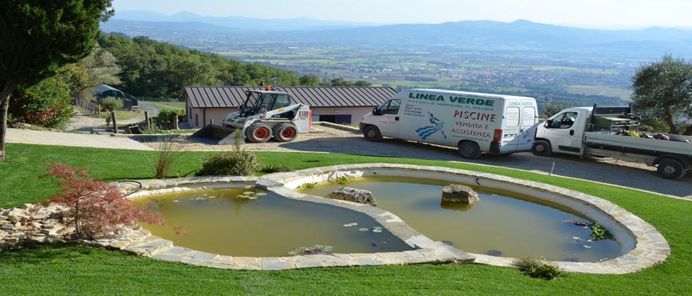 Laghetti privati costruzione realizzazione fontane for Pesci finti per piscina